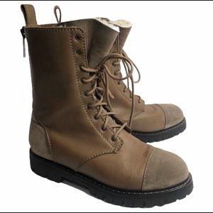 Acne Studios men's lace up leather boots